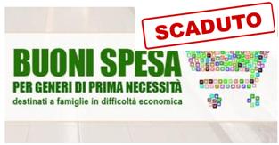 BANDO PER EROGAZIONE BUONI SPESA - UN AIUTO PER LE FAMIGLIE IN DIFFICOLTA' ECONOMICA
