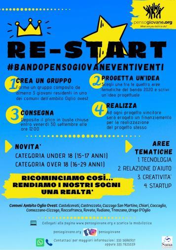 RE-START #BANDOPENSOGIOVANE2020