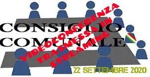 CONSIGLIO COMUNALE DEL 22 SETTEMBRE 2020 - STREAMING -
