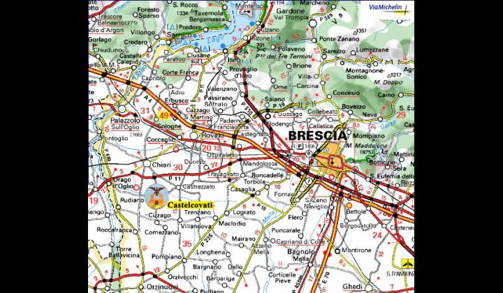 Cartina Castelcovati