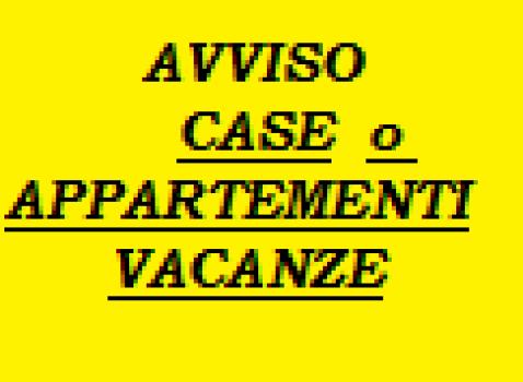 AVVISO CASE E APPARTAMENTI PER VACANZE L.R. N.27/2015