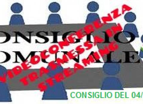 CONSIGLIO COMUNALE DEL 04 NOVEMBRE 2020 - STREAMING -